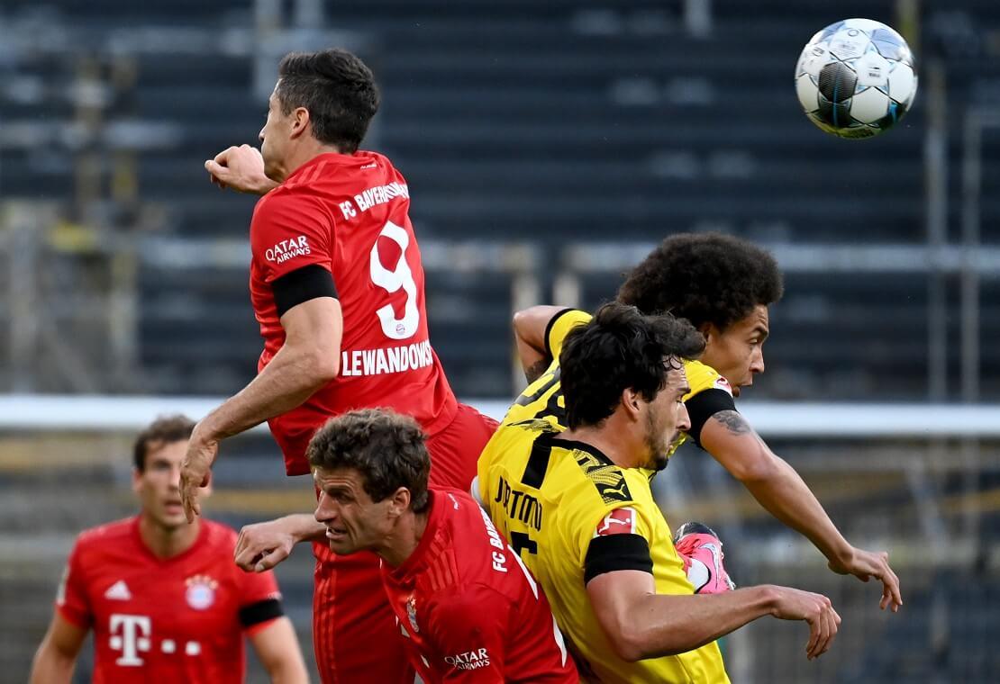 Kopfballduell mit Müller, Lewandowski, Hummels und Witsel