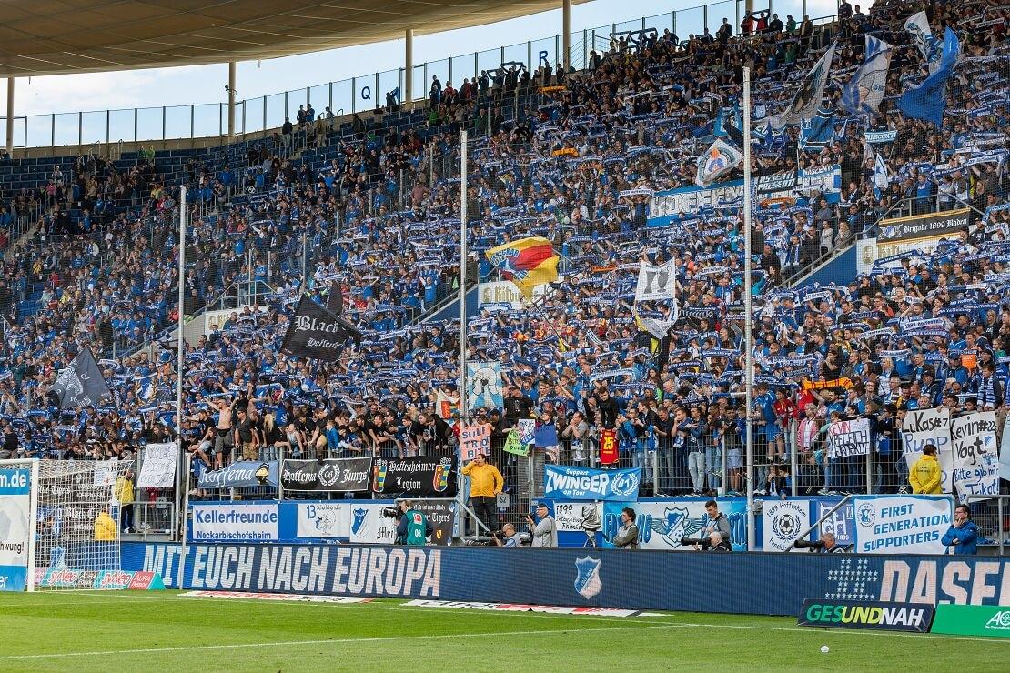 Fankurve der TSG Hoffenheim