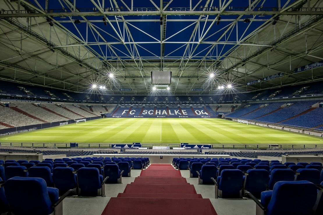 Leeres Stadion des FC Schalke 04