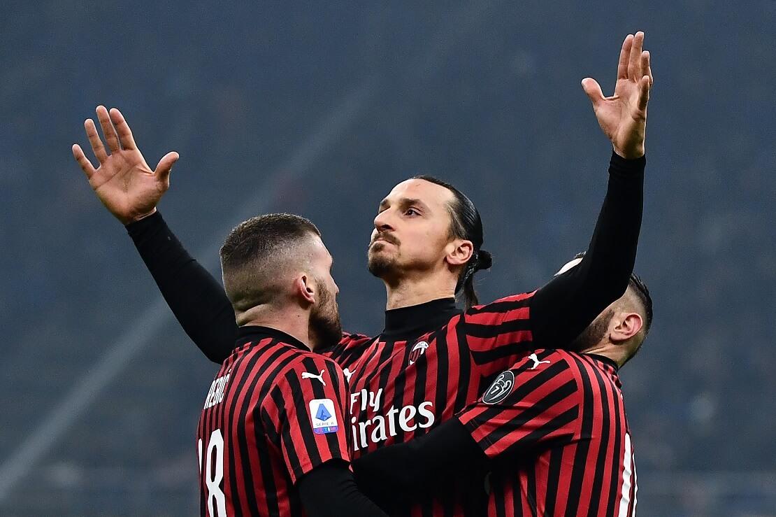 Zlatan Ibrahimovic von Milan beim Torjubel