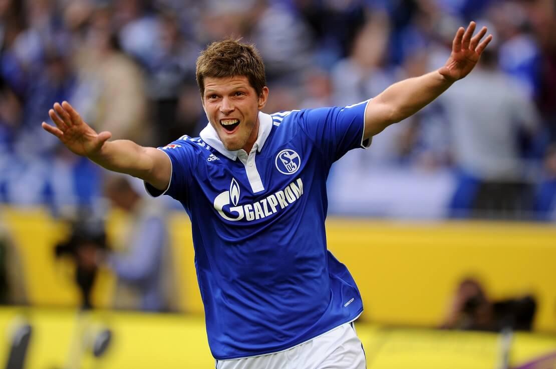 Klaas-Jan Huntelaar jubelt im Trikot von Schalke