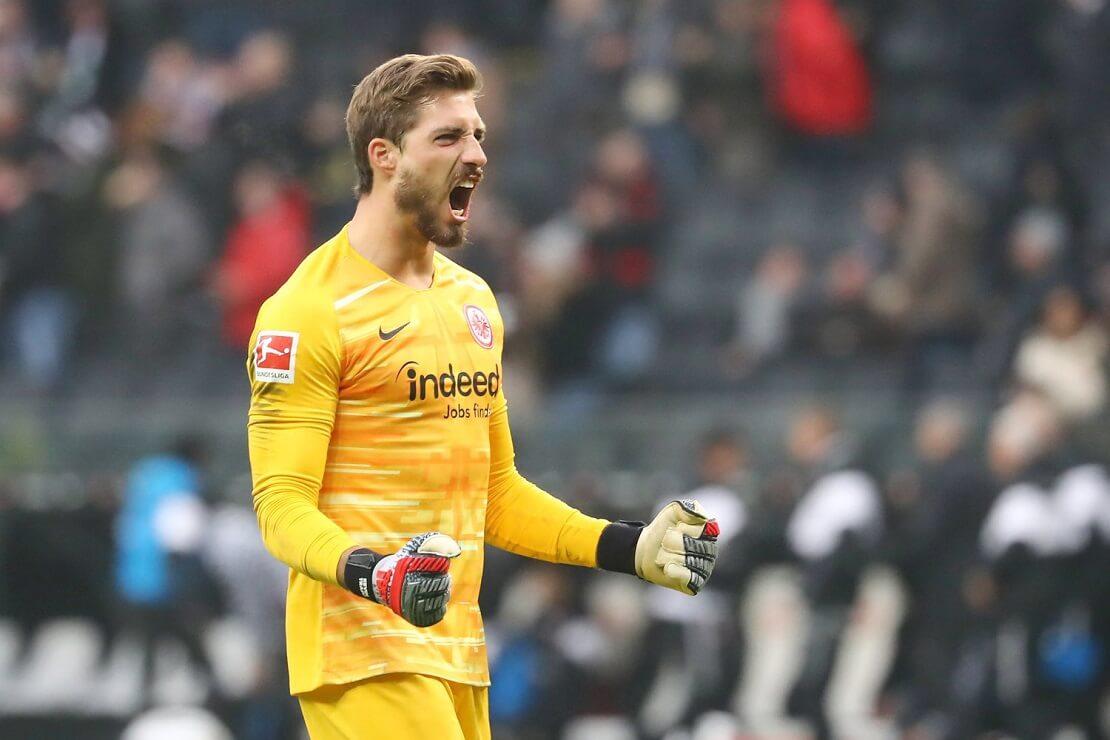 Kevin Trapp von Eintracht Frankfurt jubelt