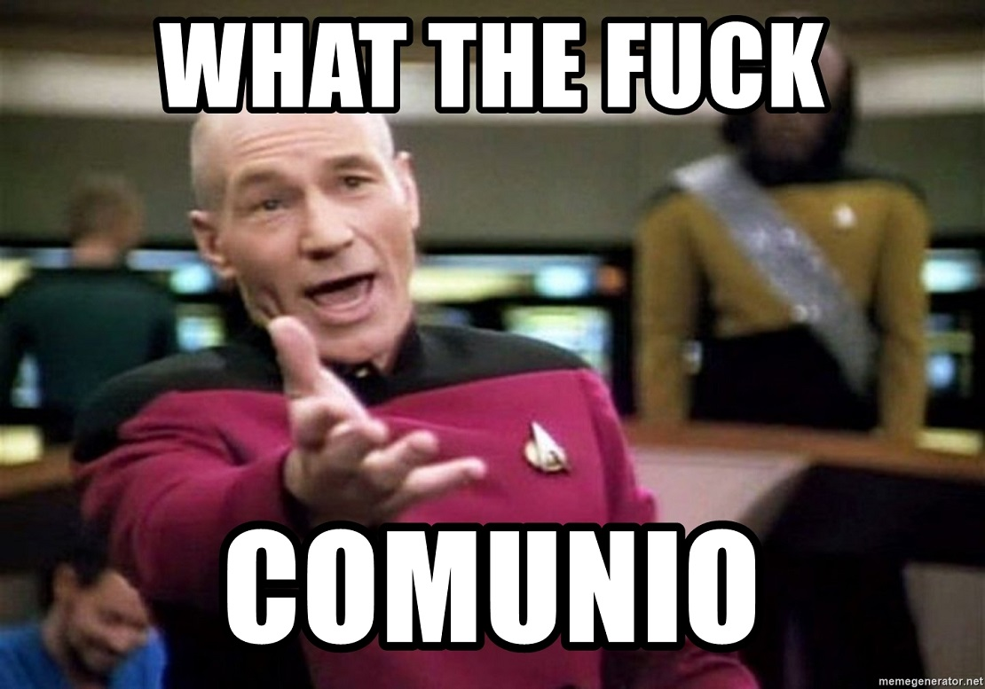 Meme: Captain Picard gestikuliert, der Text lautet What the Fuck Comunio