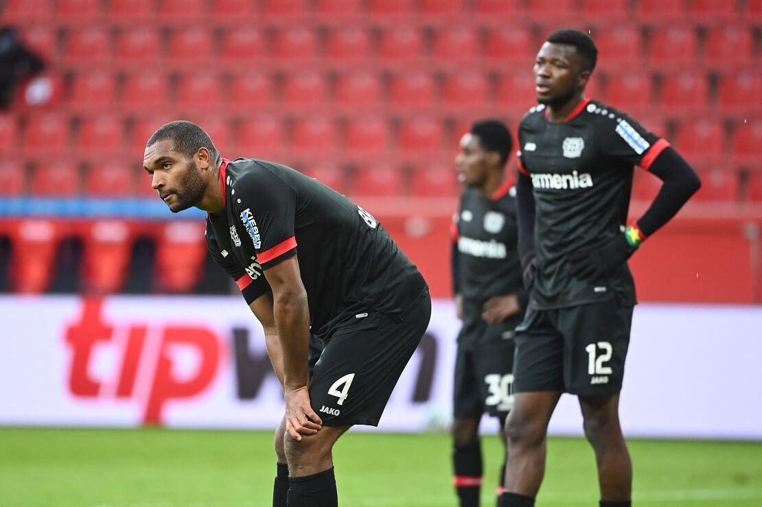 Spieler von Bayer Leverkusen zeigen sich betrübt über eine Niederlage