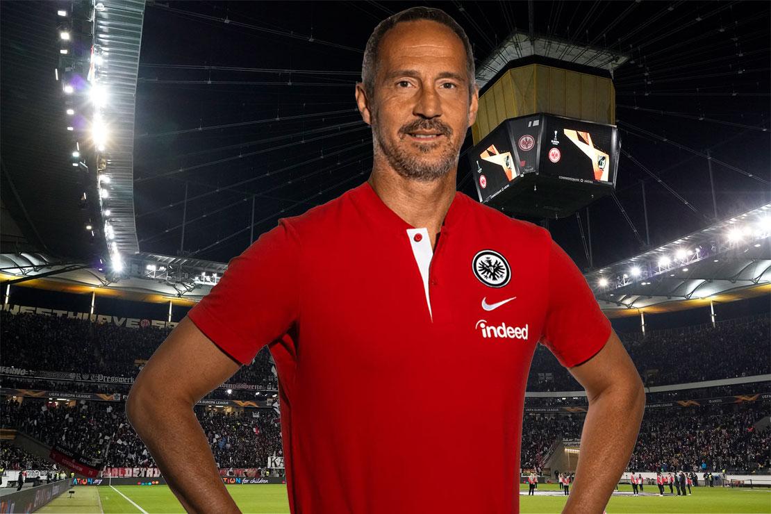 Adi Hütter vor dem Frankfurter Stadion