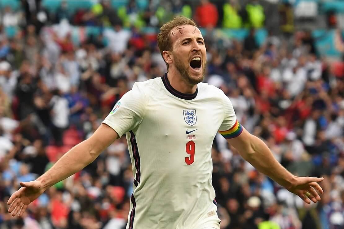 Harry Kane von England bejubelt ein Tor