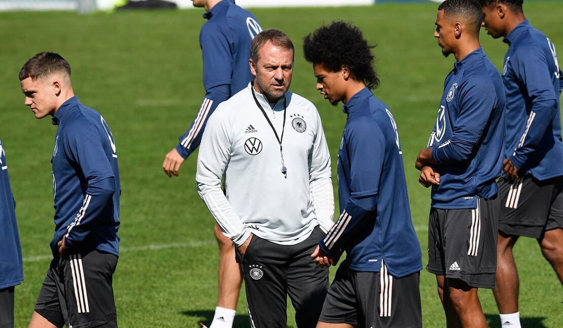 Hansi Flick mit der deutschen Nationalmannschaft